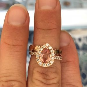 Jewelry - Custom Champagne Sapphire Engagement ring set